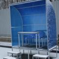 Место для судей со столиком